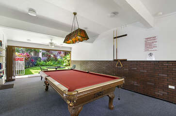 Pool Table in the White Sands Village Common Area