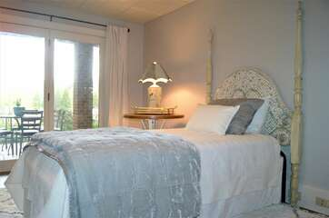 Guest bedroom 3 - with your own private access to the patio/lake and great views!