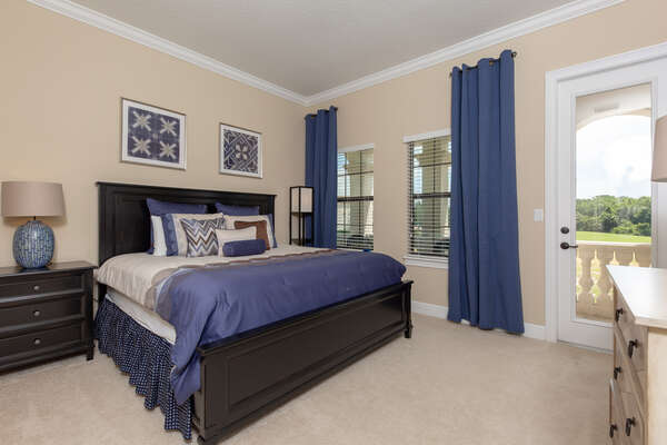 This king suite is located on the second floor with balcony access