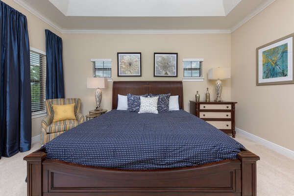 Sleep well on this king bed