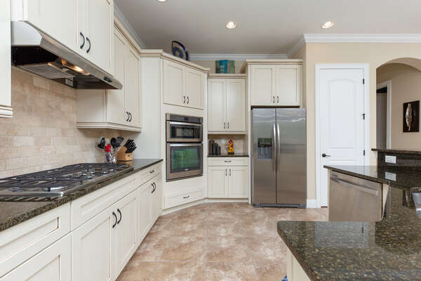Prepare meals in this fully-equipped kitchen