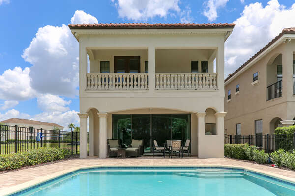 Enjoy your own private pool and patio area