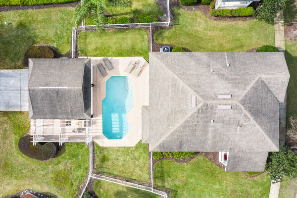 Aerial view of your home away from home