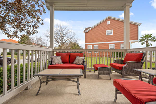 Comfortable patio furniture is great for lounging