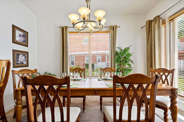 Sit down together and enjoy dinner with the whole family