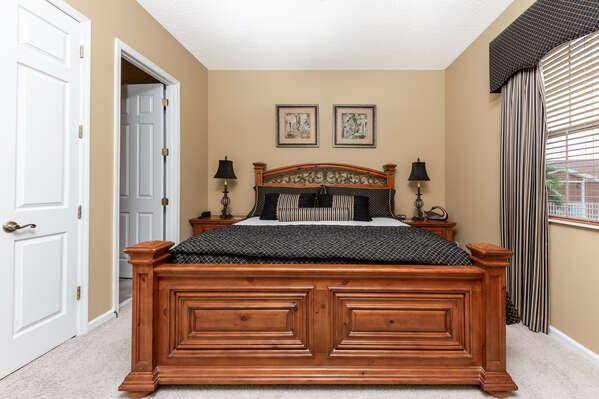 Sleep easy in this King bedroom