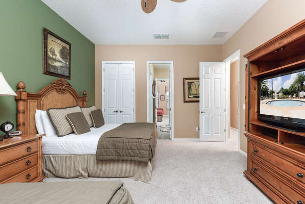 Relax in this spacious bedroom