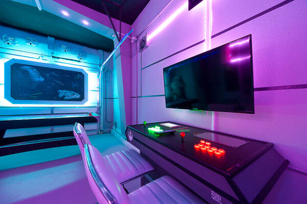 The game room has exciting gaming tables to game all day in style