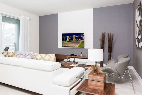 This beautiful living area is decorated to a high standard