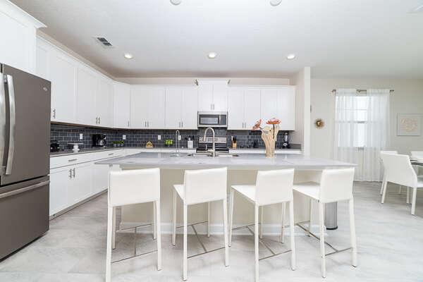 A luxurious and modern kitchen