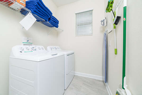 Equipped laundry room