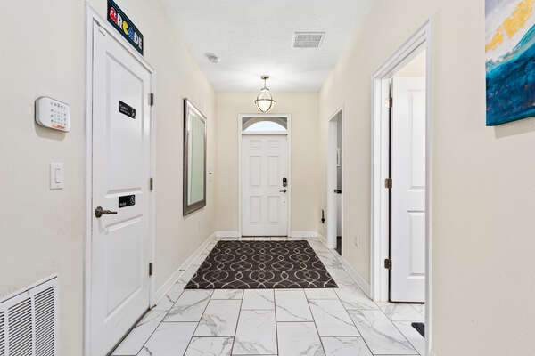Open foyer that welcomes you to the home