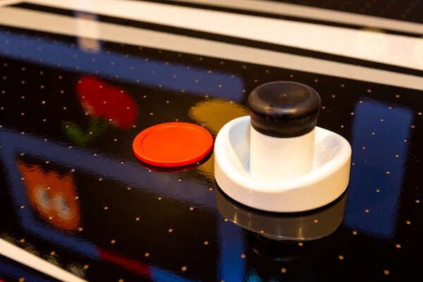 The garage game rom has an air hockey table