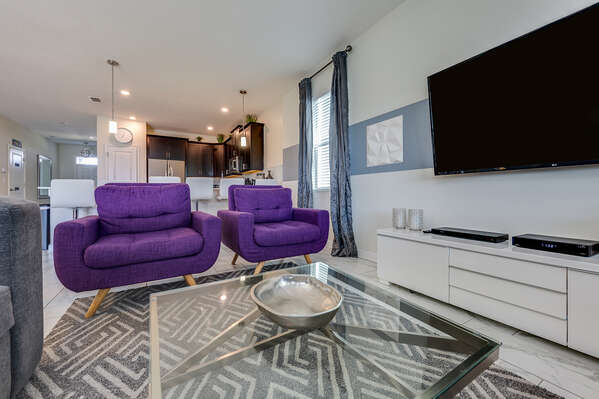 The living area provides comfortable seating throughout