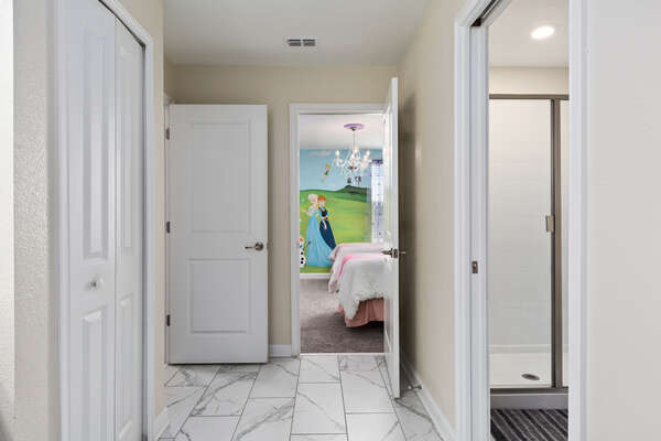 Access to a hallway bathroom