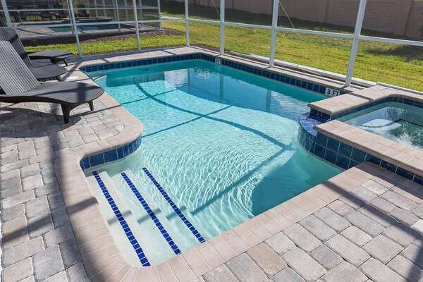 Walk-in Pool and Hot Tub