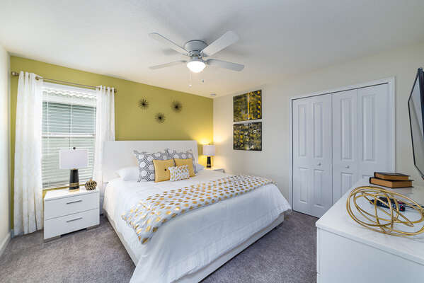 All the bedrooms are decorated to a high standard, and this comfortable king bedroom is no exception