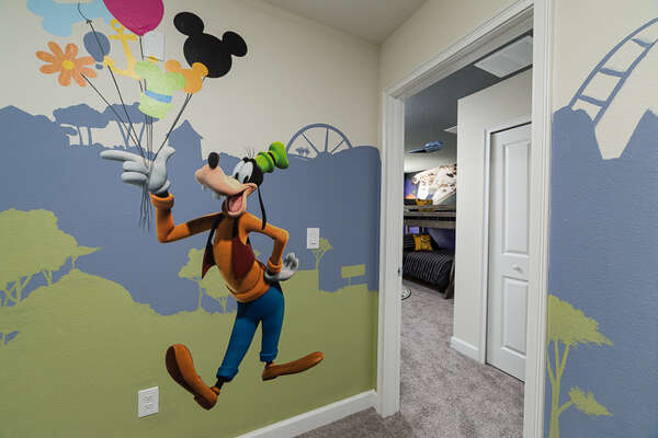 Complete with playful decorations and decals