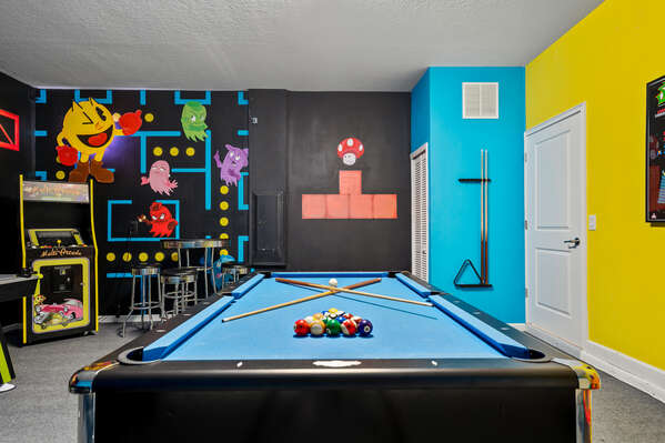 Challenge friends to a round of pool