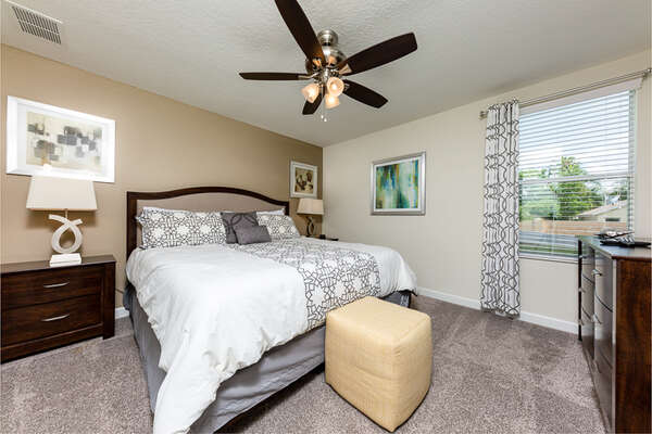 Relax after a long day in your cozy bedroom