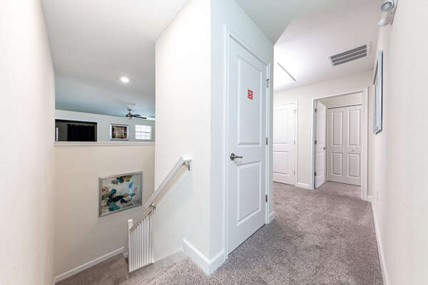 There is so much more to do upstairs in this home