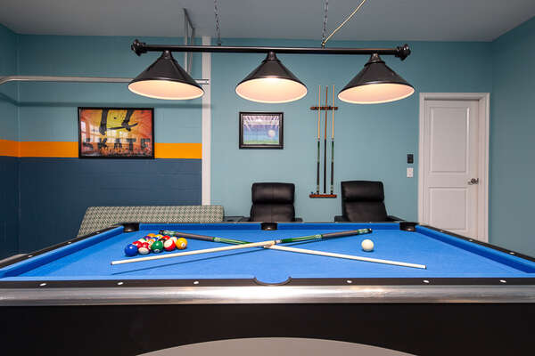 Challenge each other to a friendly game of pool