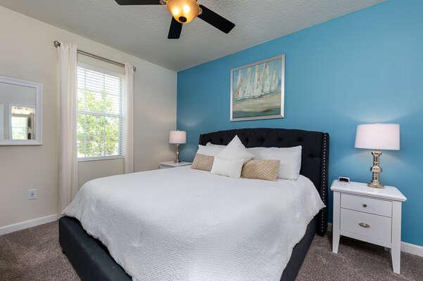 Cozy bedroom to get a good night sleep