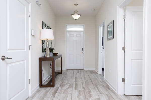 The foyer welcomes you and prepares you to the rest of this elegant home