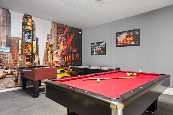Endless fun awaits for you in the games room