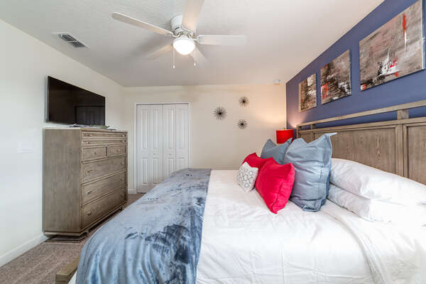 Settle into this comfortable bedroom after a long day