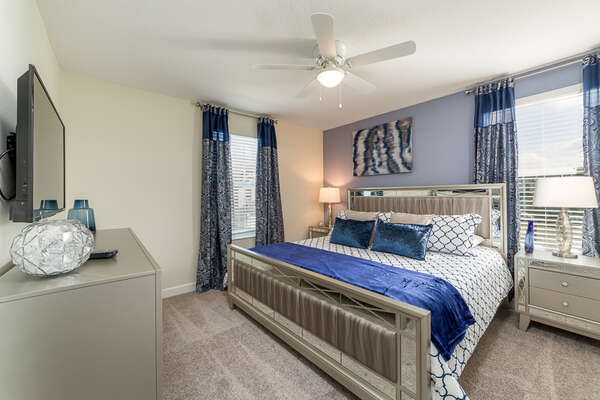 Retire after a long day in this beautiful bedroom