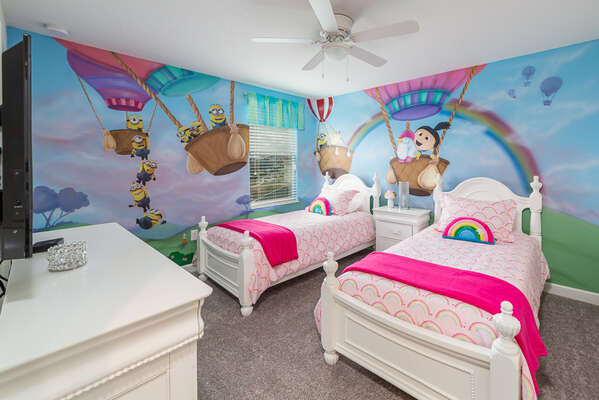 The kids will love their own themed bedroom after a day at the parks