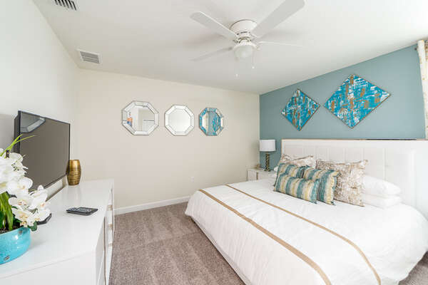 Enter luxury and comfort with this bedroom