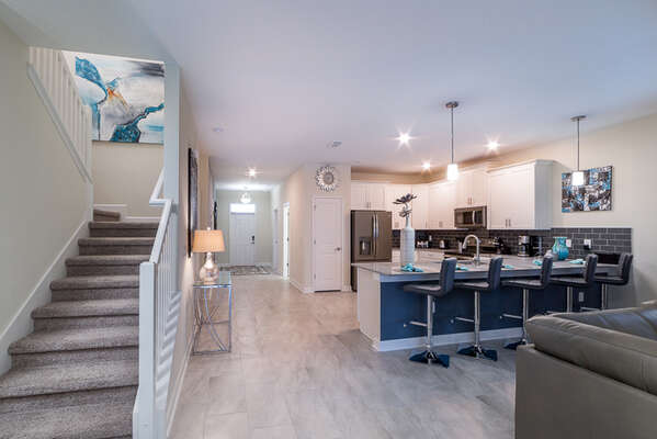 This home features an open floorplan