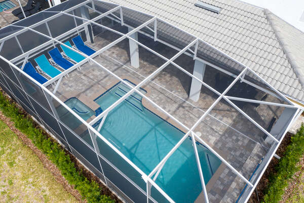 Aerial view of your private pool area