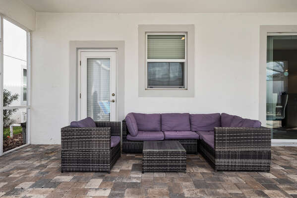 Lounge on the outdoor patio furniture