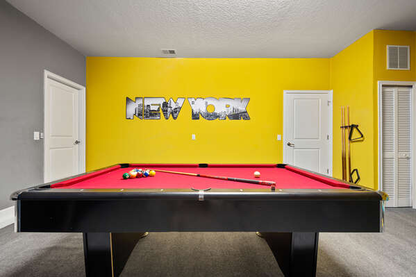 Challenge each other to games of pool