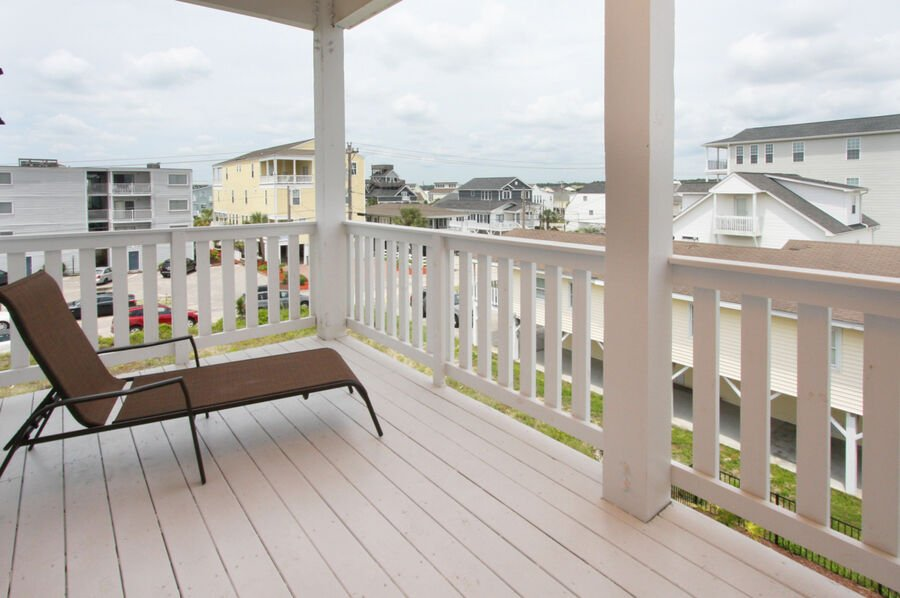 A Perfect Escape - vacation home on the boulevard in Cherry Grove, North Myrtle Beach | balcony view 2 | Thomas Beach Vacations