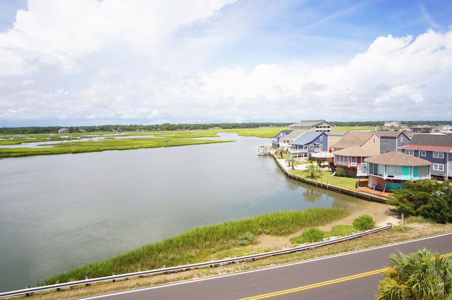 Admirals Quarters A vacation home in Cherry Grove, North Myrtle Beach | Cherry Grove marsh view 1 | Thomas Beach Vacations