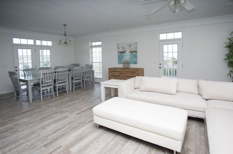 Admirals Quarters A vacation home in Cherry Grove, North Myrtle Beach | living room 2 | Thomas Beach Vacations