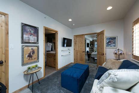 Downstairs Queen Murphy Bed Room with Ensuite Bathroom