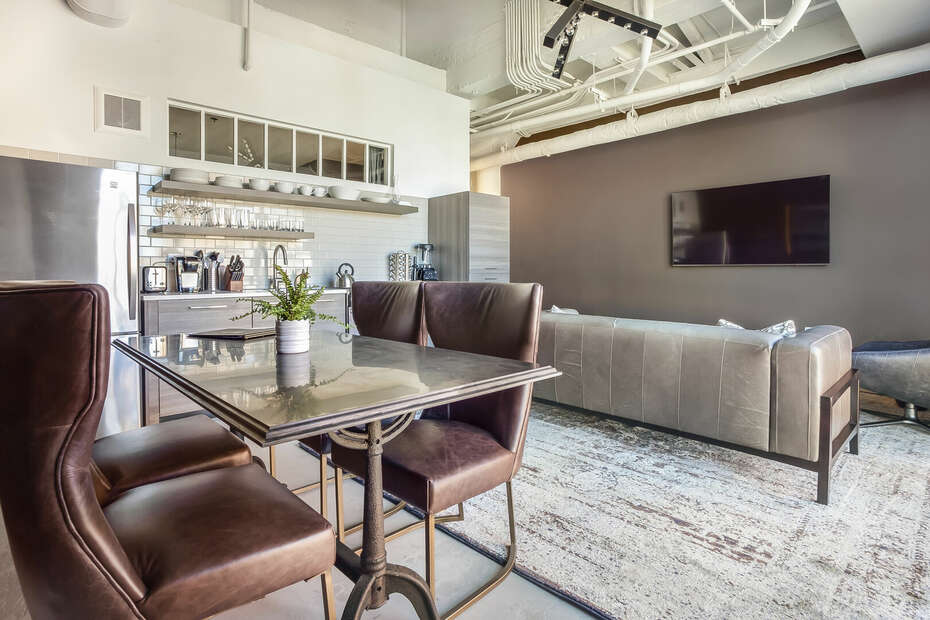 Dining Area and Living area at Sherwood Loft
