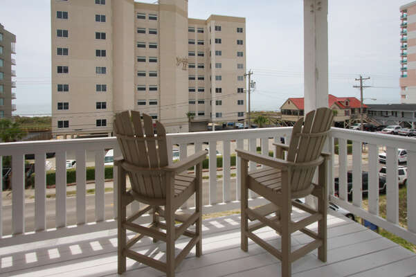 A Perfect Escape - vacation home on the boulevard in Cherry Grove, North Myrtle Beach | balcony view 1 | Thomas Beach Vacations