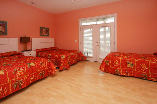 A Perfect Escape - vacation home on the boulevard in Cherry Grove, North Myrtle Beach | bedroom 3 | Thomas Beach Vacations