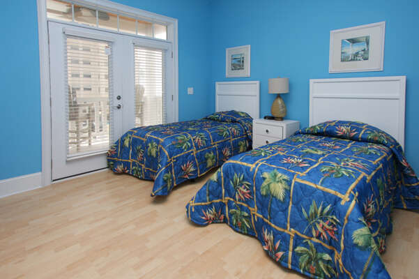 A Perfect Escape - vacation home on the boulevard in Cherry Grove, North Myrtle Beach | bedroom 2 | Thomas Beach Vacations