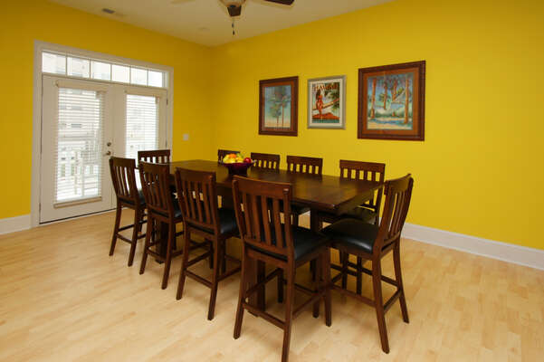 A Perfect Escape - vacation home on the boulevard in Cherry Grove, North Myrtle Beach | dining area | Thomas Beach Vacations
