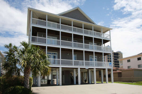 Admirals Quarters A vacation home in Cherry Grove, North Myrtle Beach | building view | Thomas Beach Vacations