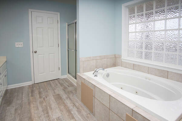 Admirals Quarters A vacation home in Cherry Grove, North Myrtle Beach | bathroom 1 | Thomas Beach Vacations