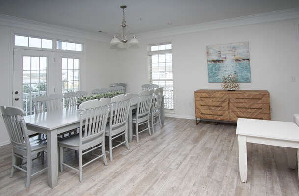 Admirals Quarters A vacation home in Cherry Grove, North Myrtle Beach | dining area 2 | Thomas Beach Vacations