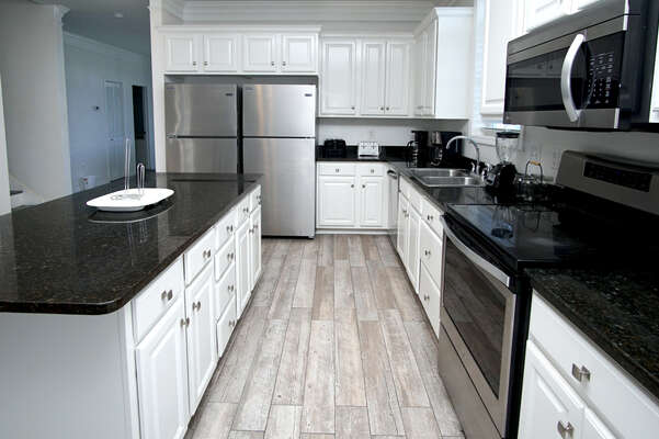Admirals Quarters A vacation home in Cherry Grove, North Myrtle Beach | kitchen | Thomas Beach Vacations